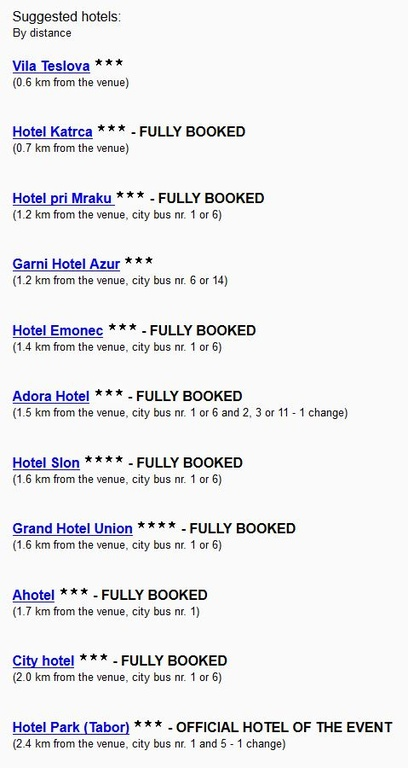 HOTEL recommendations